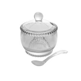 Açucareiro Cristal com Colher Pearl 10x8x7cm