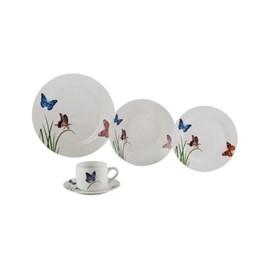 Aparelho de Jantar Butterflies com 20 Peças Porcelana