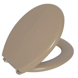Assento Sanitário Almofadado Oval Bege 06 Astra