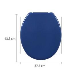 Assento Sanitário Plástico Oval Azul Escuro Astra