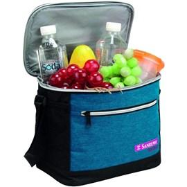 Bolsa Térmica Cooler Com Alças Sanremo 8 Litros Praia Marmita Lanche Azul