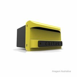 Caixa Carta Correios PVC Amarela Inbox Goma
