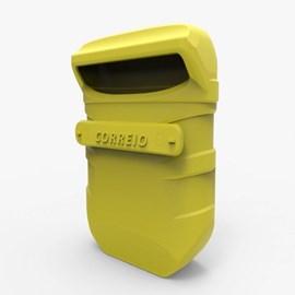 Caixa de Correio PVC Amarela Nova Pop Goma
