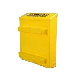 Caixa de Correio PVC Amarela para Grade Goma
