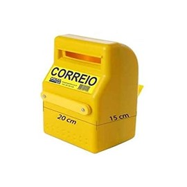 Caixa de Correio PVC Amarela Pop Goma