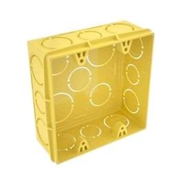 Caixa De Luz 4x4 Plástica Amarela Tramontina