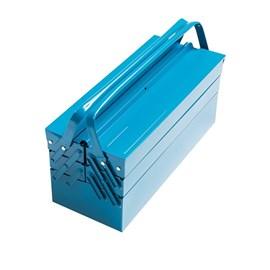Caixa em Aço Ferramentas Sanfonada 5 Gavetas Azul Tramontina