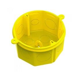 Caixa Luz 4x4 Plást Octagonal Fundo Móvel Amarela Tramontina