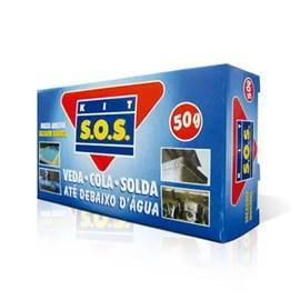 Cola Epóxi Até Debaixo D'Água Kit SOS 50g Vedatudo