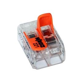 Conector de Emenda 2 Polos de 0,2 a 4 mm Linha 221 Wago
