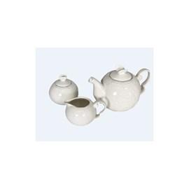 Conjunto 3 pcs para Chá e Café de porcelana Butterfly Branco
