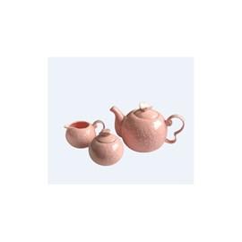 Conjunto 3 pcs para Chá e Café de porcelana Butterfly Rosa