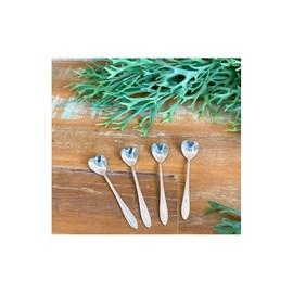 Conjunto 4 Colheres de Aço inox para Chá Heart Prateado Bon Gourmet