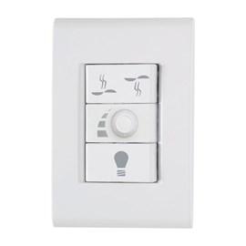 Conjunto 4x2 Variador Ventilador Bivolt Liz Branco Tramontin