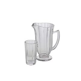 Conjunto 7 pc jarra com 6 copos de vidro Line 1l/270ml
