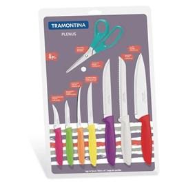 Conjunto De Facas cozinha 8 Peças Plenus Aço Inox