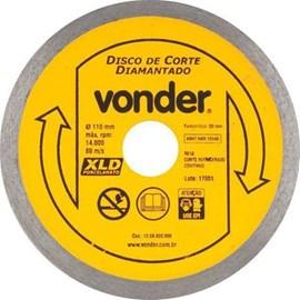 Disco Corte Diamantado Porcelanato Vonder 110mm