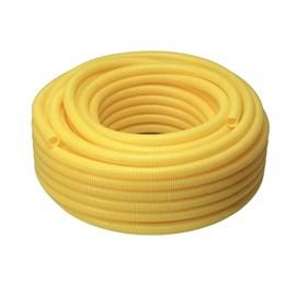 ELETRODUTO CORRUGADO PVC FLEXÍVEL AMARELO 25MM 1M