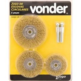 Escovas circulares Vonder - Jogo com 05 peças