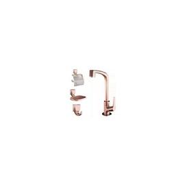 Kit Acessórios Banheiro Torneira 4 Peças Rosé Gold Lorenzett