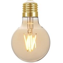 LAMPADA LED FILAMENTO VINTAGE AMBAR 4W G80 E27 AUTOVOLT 15.000H