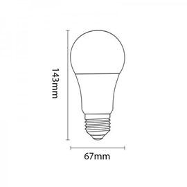 Lâmpada Led Taschibra TKL 90 15W Bivolt E27 6500K - Luz Branca