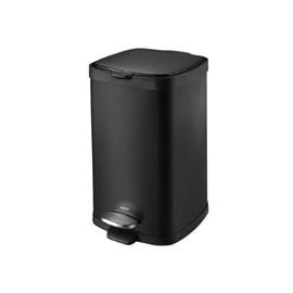 Lixeira Aço Carbono Pedal Balde Frame 12L Brinox - Preto Brinox