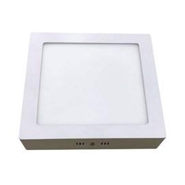 Luminária Plafon Quadrada Sobrepor LED 12W 3000K Bronzeart