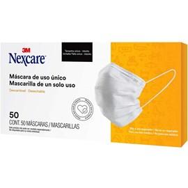 Máscara 3M Nexcare caixa com 50 unidades