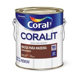 MASSA PARA MADEIRA BRANCO 3,6LT CORAL
