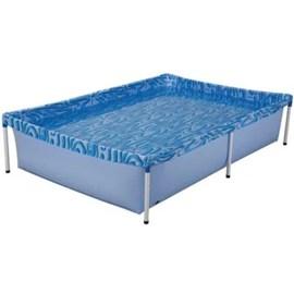Piscina Infantil 1000 Litros Mor Estrutural Retangular Azul
