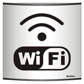 Placa Calandra Em Aluminio 14 X 14 Wifi - Sinalize