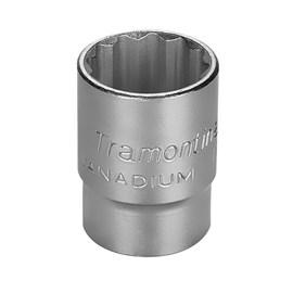 """Soquete Estriado em Aço Cromo Vanádio 24mm x 1/2"""" Tramontina"""