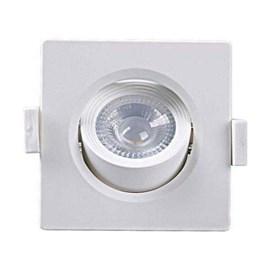 Spot LED Embutir MR11 Quadrado 3W 3000K Taschibra Brasilux